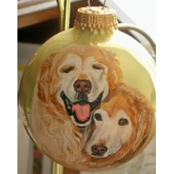 Custom Ornament With Two Pet
