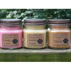 Kat's Collectible Soybean Candles  8 ounce mason jar  SALE!